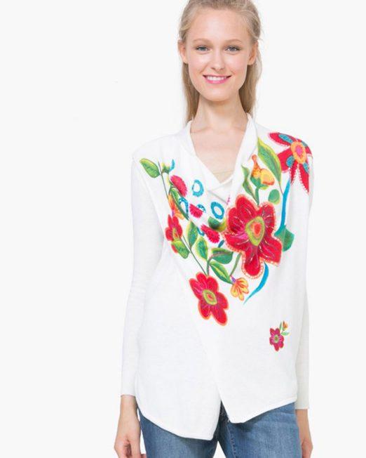 DESIGUAL FLORAL PRINT KNIT CARDIGAN 522x652 Womens Clothing & Fashion