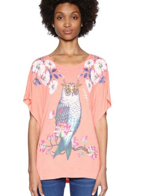 DESIGUAL OWL PRINT TOP 1 522x652 Womens Clothing & Fashion