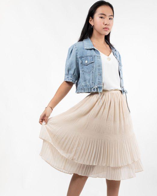 MELANI CHIFFON PLEATED SKIRT4 522x652 Womens Clothing & Fashion