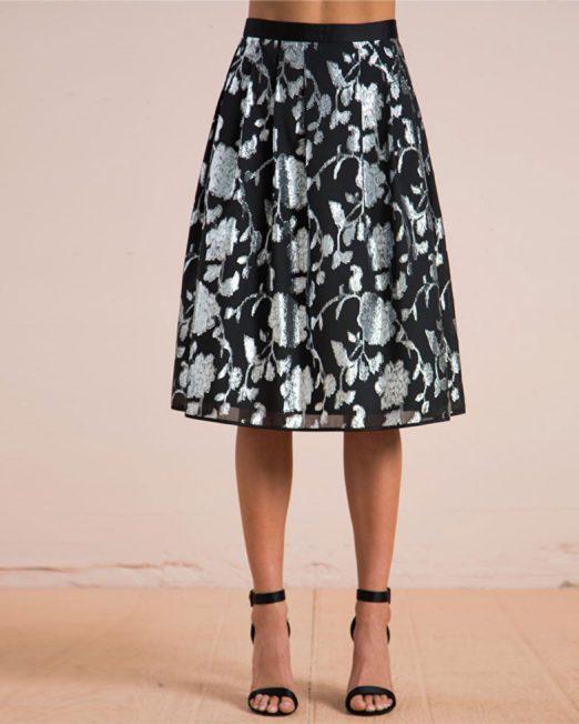 MELANI DI MODA METALLIC THREAD FLORAL PATTERN SKIRT FROM USA 1 522x652 Womens Clothing & Fashion