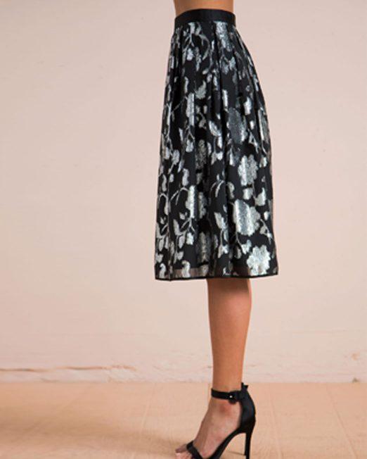 MELANI DI MODA METALLIC THREAD FLORAL PATTERN SKIRT FROM USA 2 522x652 Womens Clothing & Fashion