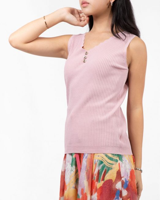 PASSION 1 BY MELANI BUTTON DETAIL VEST TOP 522x652 Womens Clothing & Fashion