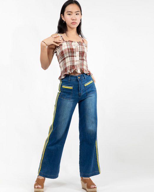 PASSION 1 BY MELANI CHECKED SMOCK TOP2 522x652 Womens Clothing & Fashion