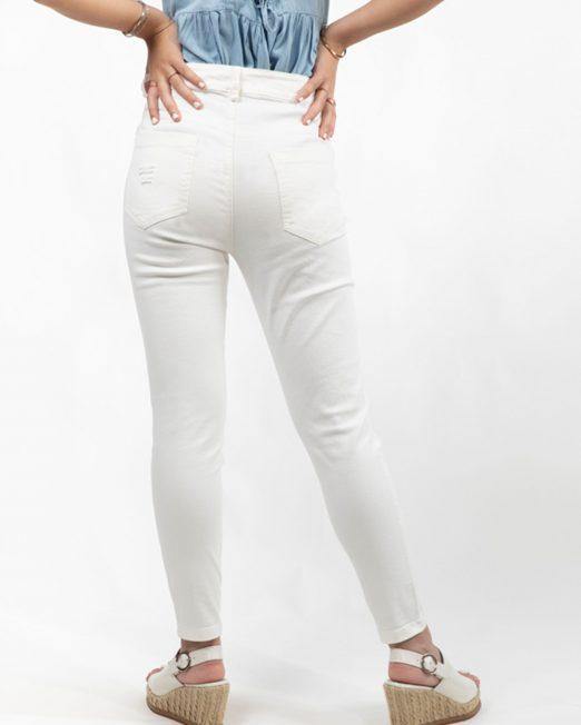 PASSION 1 BY MELANI PINK BEAR EMBELLISHMENT WHITE JEANS4 522x652 Womens Clothing & Fashion