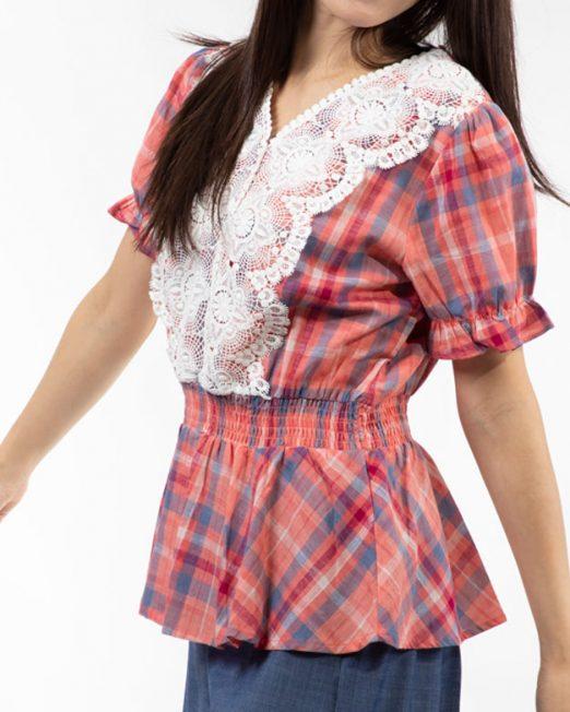 MELANI CHECK BLOUSE 2 522x652 Womens Clothing & Fashion