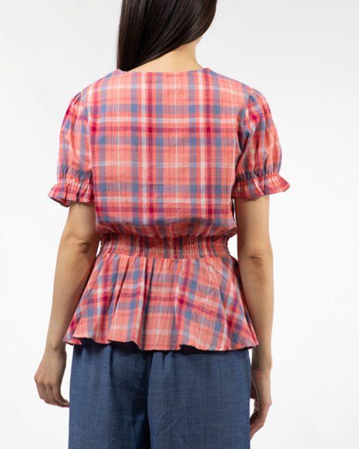 MELANI CHECK BLOUSE 3 522x652 Womens Clothing & Fashion