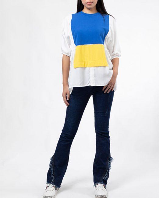 PASSION 1 BY MELANI COLOUR BLOCK TOP 4 522x652 Womens Clothing & Fashion